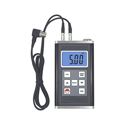 Thickness Tester Ultrasonic (TM-8818 Ultrasonic Thickness Meter Steel Aluminum Glass Thick Gauge 0.75~400mm with Calibration Block)