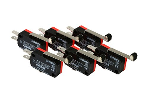 (TEMCo 6 pc Micro Limit Switch Long Roller Lever Arm SPDT Snap Action home LOT)