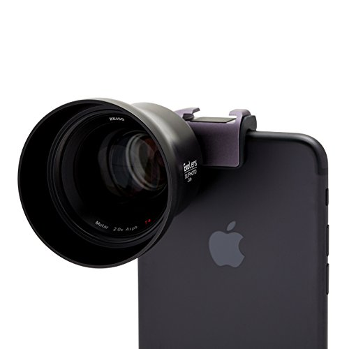 ExoLens Pro with Optics by ZEISS (Mutar 2.0x Asph T*) Telephoto Lens for iPhone 7, 6s, 6s Plus, 6, 6 Plus