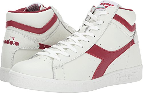 Diadora Heren Game L Lage Waxed Court Schoen Wit / Chili Pepers / Wit