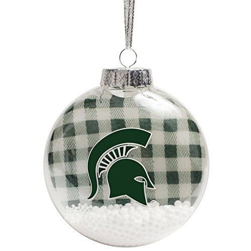 Michigan State Spartans NCAA Flannel Shatterproof Disc Christmas