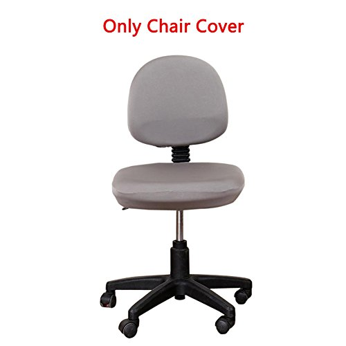 Loghot Comfortable Soft Chair Covers Split Computer Office Desk Slipcovers Stretch Rotating Polyester Spandex Chair Pads Covers (Grey) by Loghot
