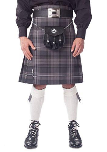 Kilt Society Mens 7 Piece Semi Dress Kilt Outfit- Hamilton Tartan with White Hose 46'' to 50'' by Kilt Society
