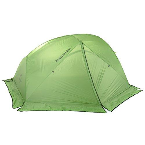 デクリメント舗装する銀行Naturehike公式ショップ テント 2人用 アウトドア 二重層 超軽量 4シーズン 防風防水 PU4000 キャンピング(専用グランドシート付)