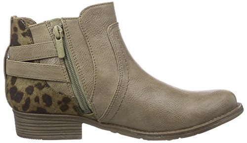 taupe chelsea mujer botines Booty Braun 318 Mustang material marrón de sintético qYvHEEwB