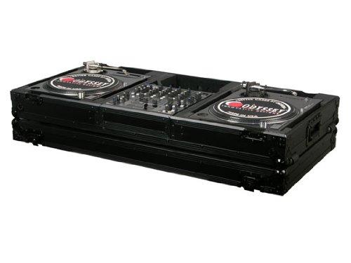 Odyssey FZBM12WBL Black Label Universal Turntable DJ Coffin with Wheels ()
