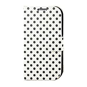 Round Dot Pattern PU Leather Stand Case for Samsung Galaxy S3 I9300 , Black