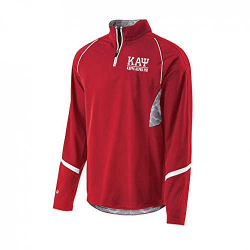 Kappa Alpha Psi Fraternity Greek Letter Tenacity Men's Long Sleeve Zip Pullover Medium Scarlet/white Alpha Kappa Alpha Sweater