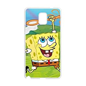 WWWE Lovely SpongeBob Cell Phone Case for Samsung Galaxy Note4