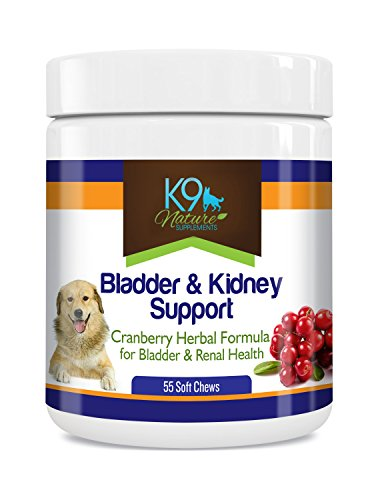 Bladder Support for Dogs – Dog Bladder Control Pills Are A Natural Cranberry Supplement for Dog Incontinence Urinary Tract Infection Relief & Kidney Support 55 Soft Chew Senior Dog Vitamins
