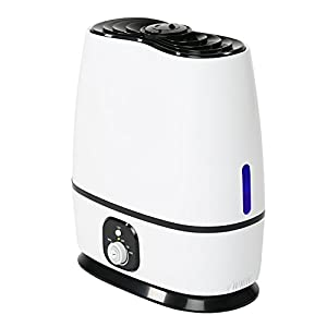 Everlasting Comfort Ultrasonic Humidifier (6L) - Built-in Oil Diffuser, High Mist Output, Adjustable Knob and 360 Deg. Nozzles. Ultra Quiet, Auto Shut Off, Night Light, Large Capacity…