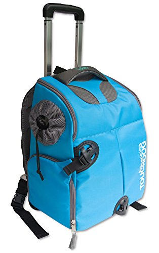 TOUCHDOG 'Wuffle Duffle' 2-in-1 Wheeled Backpack Sporty Fashion Pet Dog Carrier, One Size, ()
