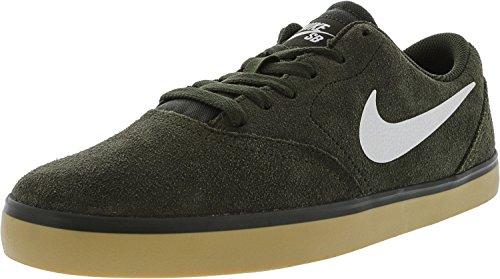 Nike Men's SB Check Skateboarding Shoe Sequoia/Gum Light Brown/White Size 11 M US
