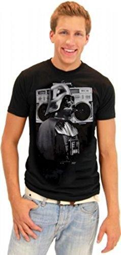Star Wars Darth Vader Boombox Retro Adult Black T-shirt (Adult (Mens Boombox)