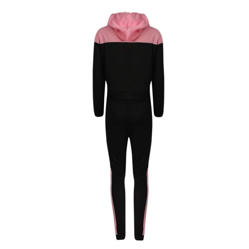 Fashion Women Casual Splice mesh Sweatshirt Hoodie Hooded Long Sleeves Sport Hoodies Tracksuit Tops+Long Pants Set by iLUGU (Image #1)