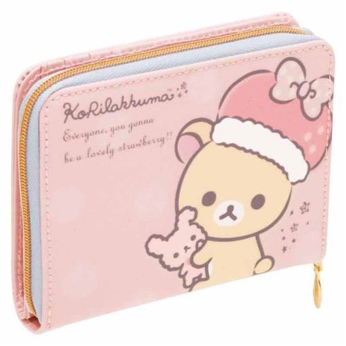 pale pink Korilakkuma bear dot wallet by San-X B01GH4L8EE