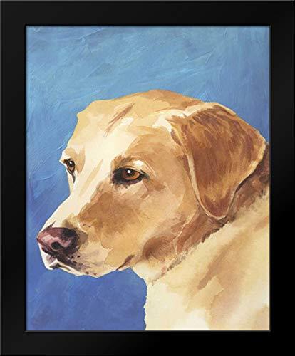 Dog Portrait-Yellow Lab 15x18 Framed Art Print by Sands, Jill