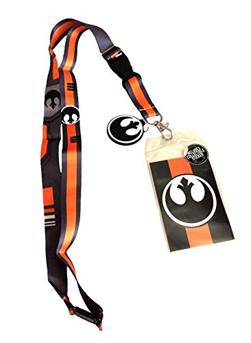 Star Wars Black Squadron Lanyard with Rubber Charm and Collectible (The Office Halloween Episode Joker)