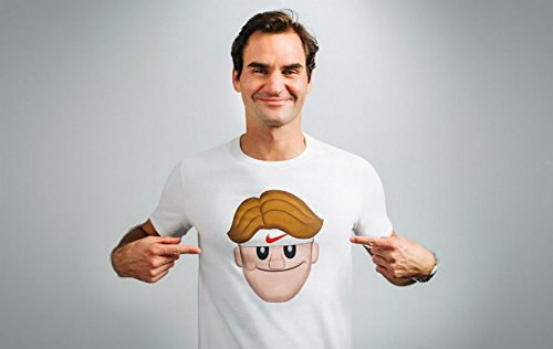 Nike Rf Face Emoji Dri fit Tennis Shirt Roger Federer Men's Shirt