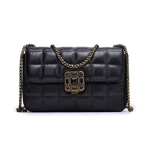 Cuir Messenger Bag Mini color Chain L Bandoulière À Sac Small Black Lingge En D'époque Red Size Houyazhan xRSwXqS