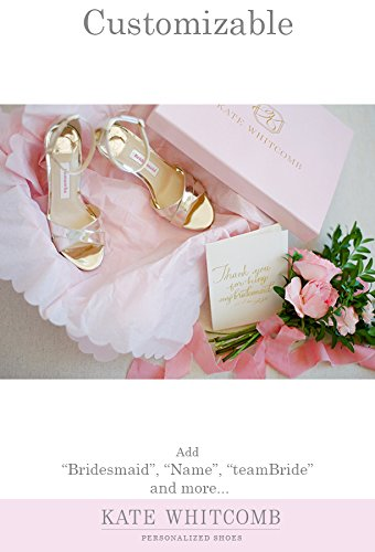 """a58c51cd6 Amazon.com: Bridesmaid Shoes -""""Patent-Pending"""" - Style Liz in Gold: Handmade"""