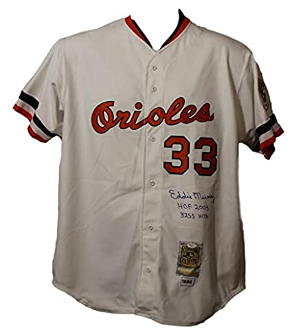 brand new b359e ff7cf Eddie Murray Autographed Baltimore Orioles Mitchell & Ness ...