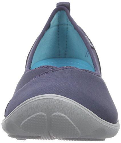 Crocs Duet Busy Day Flat, Women's Ballet Flats Blue (Navy/Light Grey)