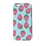 YUEch IPhone Case Cute Cartoon Strawberries TPU Shock-Absorption & Skid-proof Anti-Scratch Phone Case For Apple IPhone 6/6S/6 Plus/6S Plus/7/7 Plus/8/8 Plus