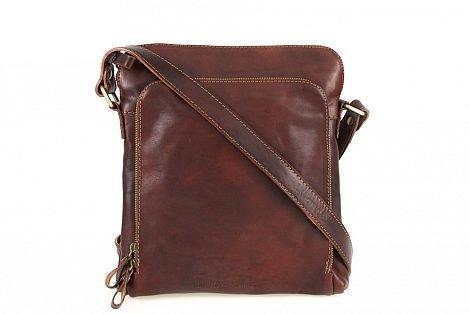 Zeta Shoes Brown Shoulder Bag For Man