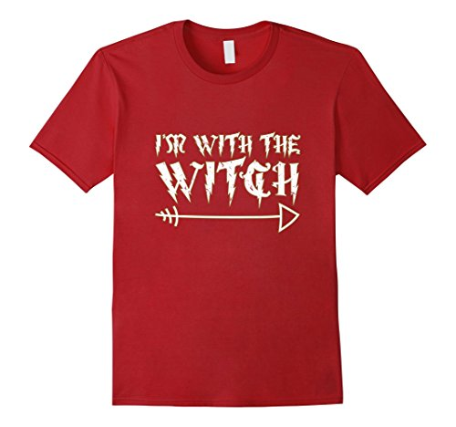 Mens Men's Halloween Couples Costume Shirt I'm With The Witch T-S Small Cranberry (Cheap Couple Halloween Costumes 2017)