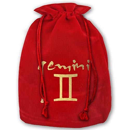 Zodiac Diaper Cover - TPSXXY Gemini Zodiac Symbol Large Christmas Drawstring Bag Santa Present Bag Basket Gifts Sack