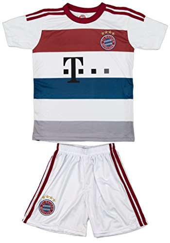 2014/2015 Bayern Munich Munchen White Away Kids Jersey & Short #10 ROBBEN Youth Sizes