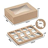 X-Chef Cupcake Boxes 12 Count, Cupcake