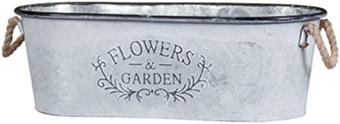 Scotrade Sophisticated Galvanised Trough Planter Use as a planter or decorative ornament.