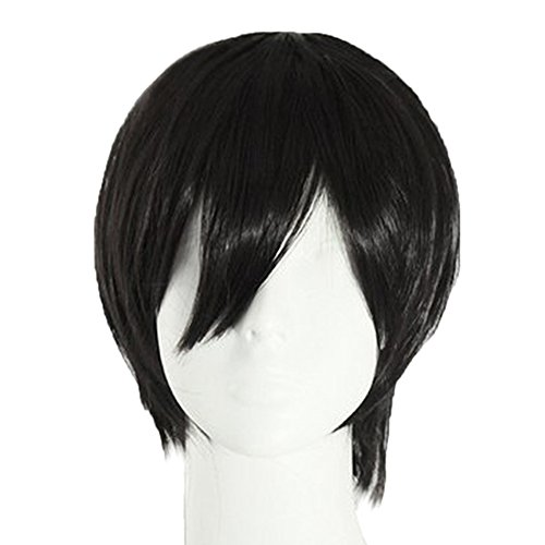 Mens Wigs For Sale (Gracefulvara Men's Wigs Male Black Short Straight Hair Cosplay Party)