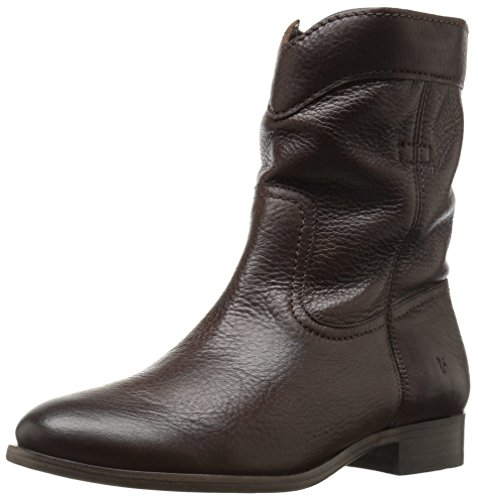 Roper Chocolate - FRYE Women's Cara Roper Short Boot, Chocolate, 8 M US