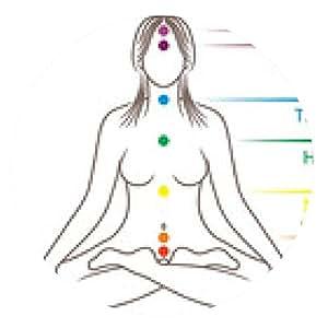alfombrilla de ratón Yoga chakras meditación ilustración - ronda - 20cm