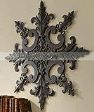 Large 38'' Indoor Outdoor Ornate Wall Medallion Art Decor Plaque Patio Garden Metal