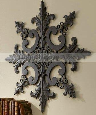 Large 38u0026quot; Indoor Outdoor Ornate Wall Medallion Art Decor Plaque Patio  Garden Metal