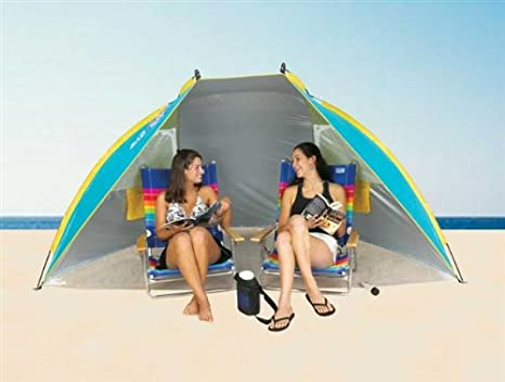 Portable Sun Shelter beach Tent Cabana SPF 50 w/ carry bag Colors vary by Nantucket  sc 1 st  Amazon.com & Amazon.com : Portable Sun Shelter beach Tent Cabana SPF 50 w ...