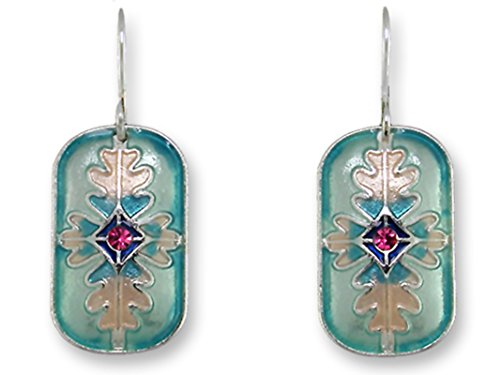 (Tabriz Earrings with Swarovski Accent Silver-Plated Nickel-Free Zarlite by Zarah )