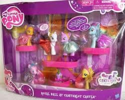 My Little Pony Exclusive Set Royal Ball At Canterlot Castle Twilight Sparkle, Pinkie Pie, Rainbow Dash, Fluttershy, Applejack, Rarity Spike the Dragon by My Little Pony