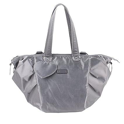Minene – Amelia Toe Nursery – Bolso cambiador de pañales, color gris/plata)