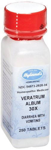 Hyland's Veratrum Album, 30X, Tablets, 250 Tablets (Pack of 3) Hylands Veratrum Album