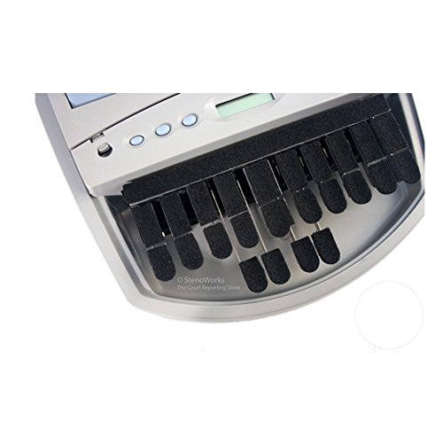 Steno Writer Black Shimmer Felt Keytop Covers for - Machine Steno