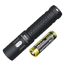 Klarus Mi7 CREE XP-L HI V3 700 Lumens Mini-Might Illumination AA Flashlight Keychain Flashlight