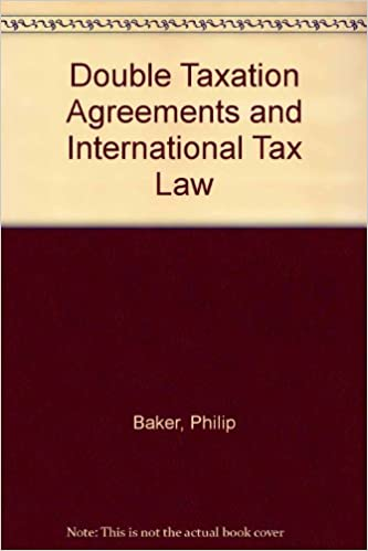 Double Taxation Agreements And International Tax Law Amazon
