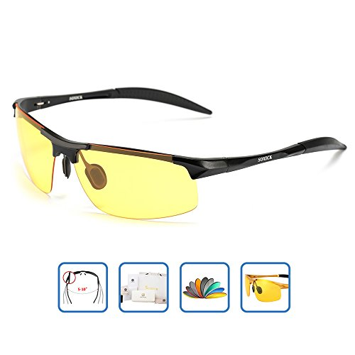 HD Men's Night Vision Glasses For Driving Polarized Anti-glare Night Sight Driving - Glasses Different Eye
