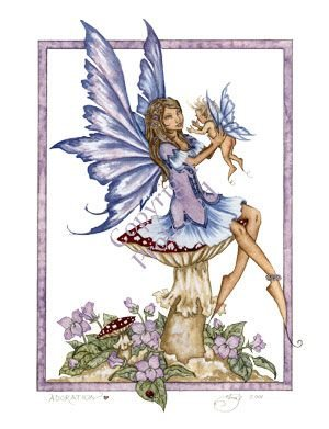 Adoration Amy Brown 85X11 Faery Print Mother Baby Fairy