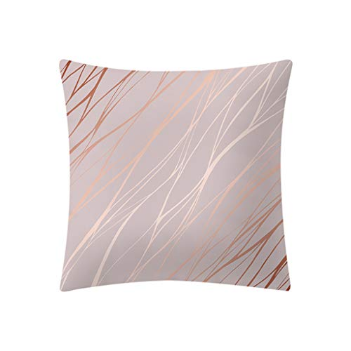- Fulijie Pillow Covers Cases Rose Gold Pink Print Throw Pillow Case for Couch Sofa Home Decor 18 x 18 Inch